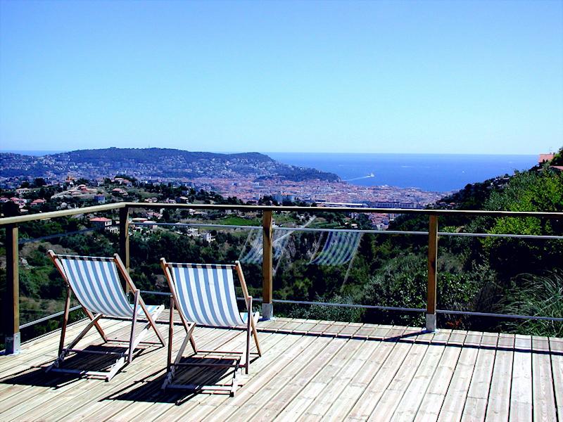 Meerblick von der Terrasse aus