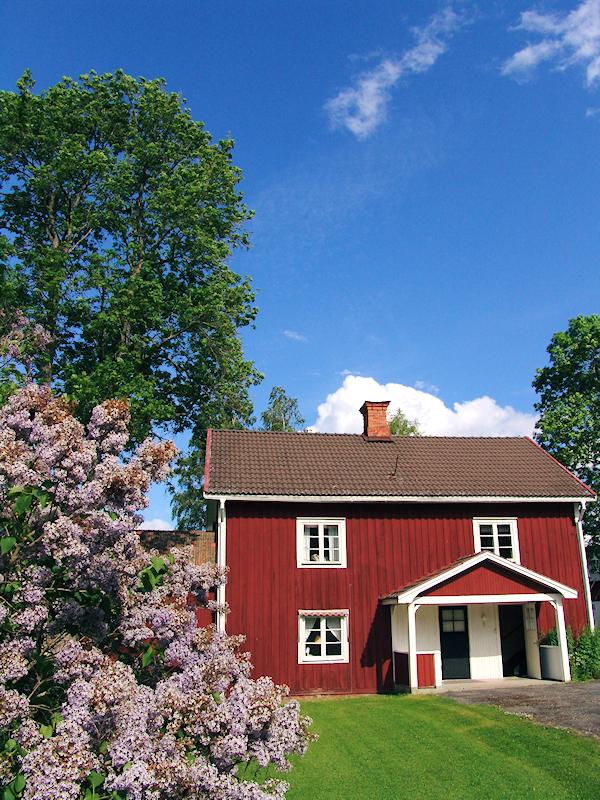 Typisches Holzhaus in Schweden