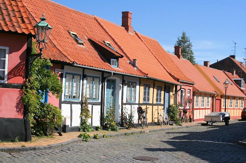 Hyggelige kleine Häuser in Dänemark