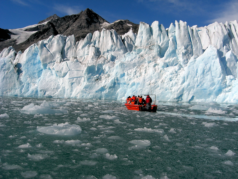 Fahrt zu einem Gletscher in Grönland