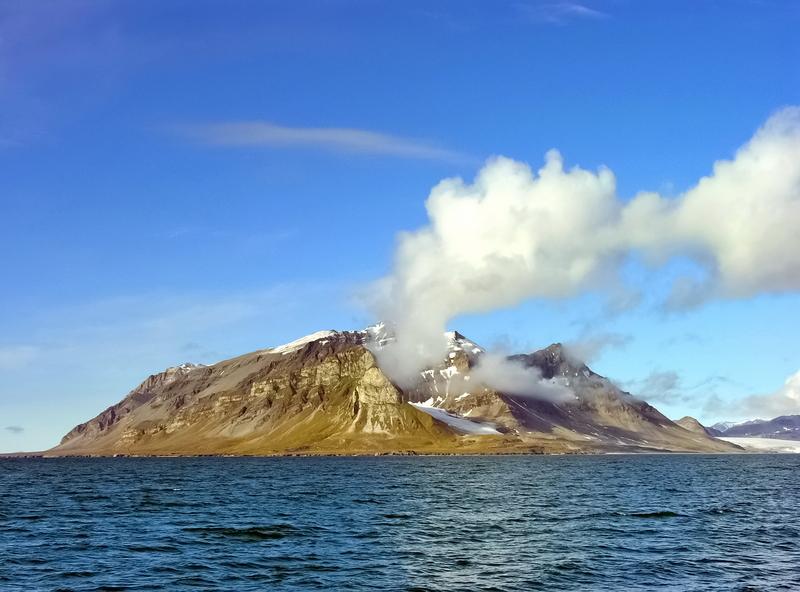 Auf der Inselgruppe Spitzbergen in Norwegen