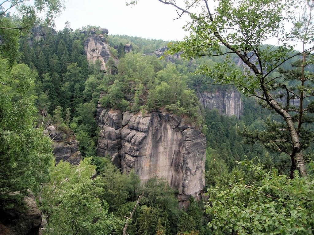 Das Elbsandsteingebirge bei Dresden