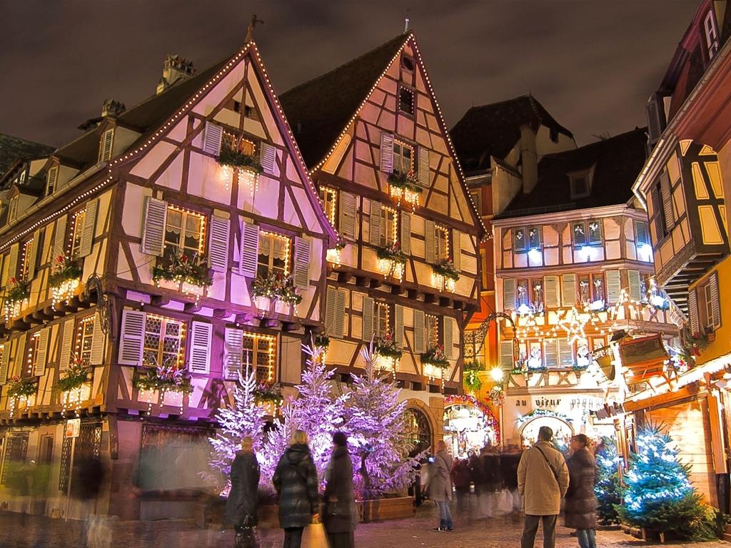 Weihnachtsmarkt in Colmar im Elsass