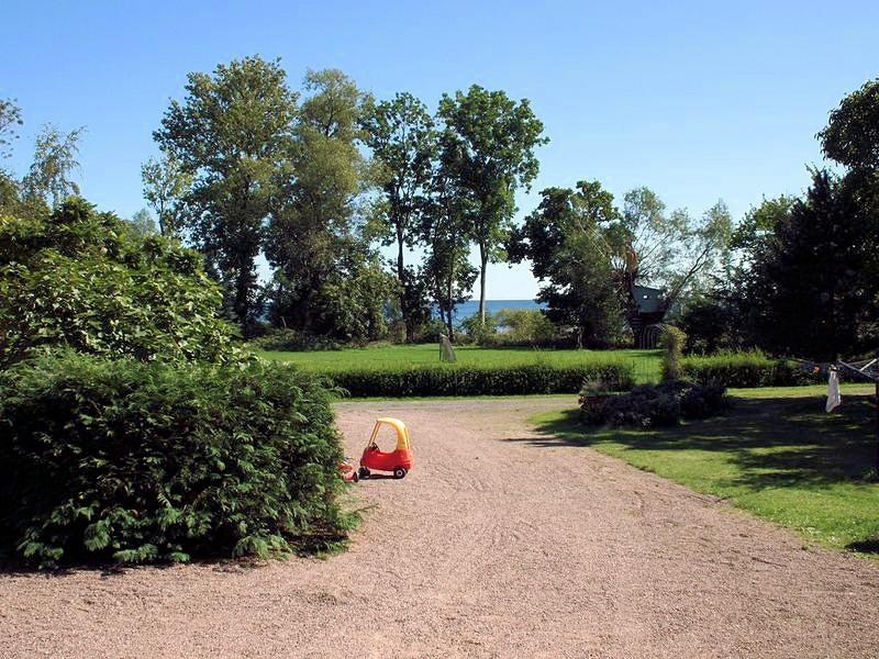 Ausblick vom östlichsten Ferienhaus auf der dänischen Ostsee-Insel Bornholm