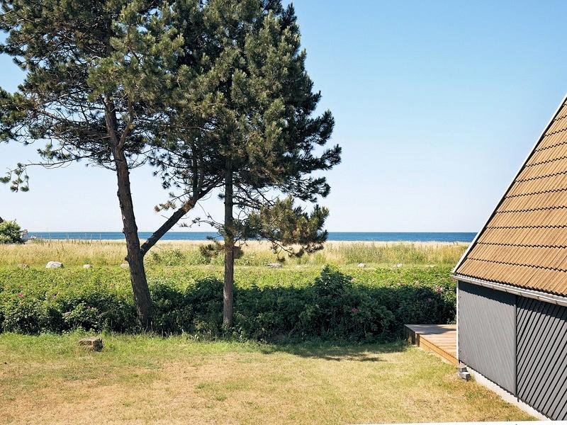 Ausblick vom südlichsten Ferienhaus in Gedser auf der dänischen Insel Falster