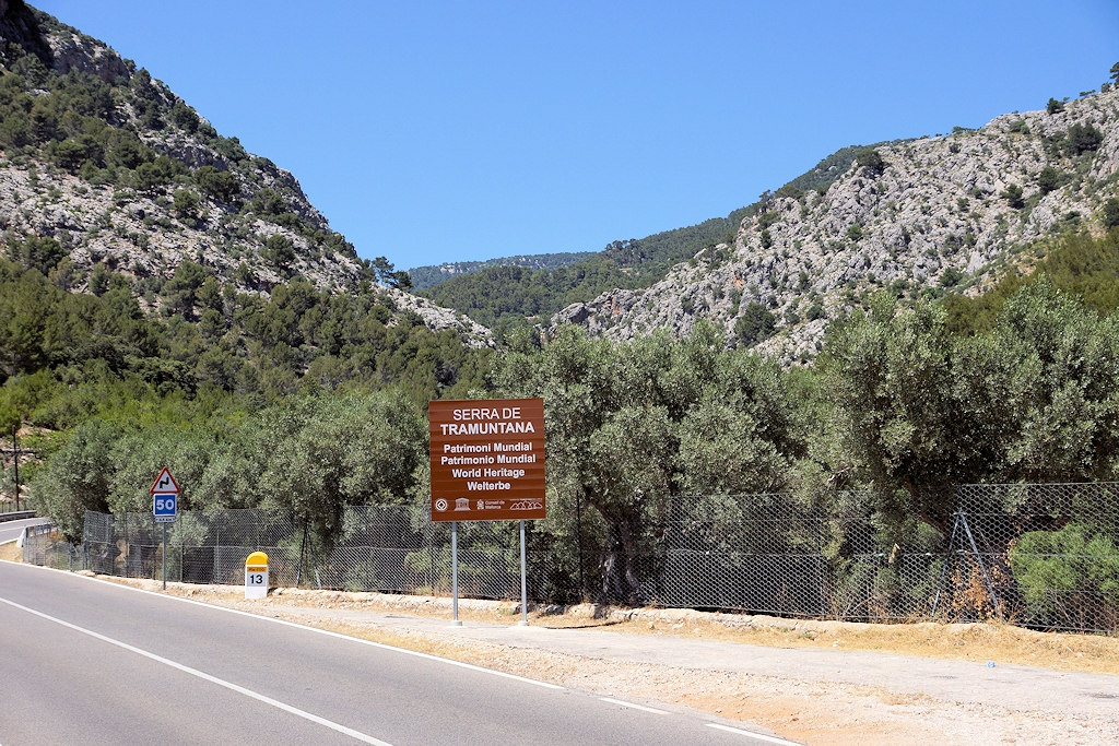 Der Gebirgszug Serra de Tramuntana auf Mallorca