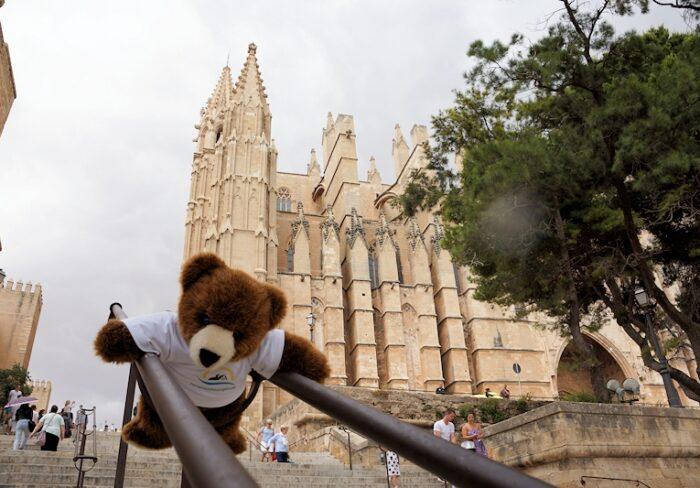 Der Urlaubär vor der Kathedrale in Palma