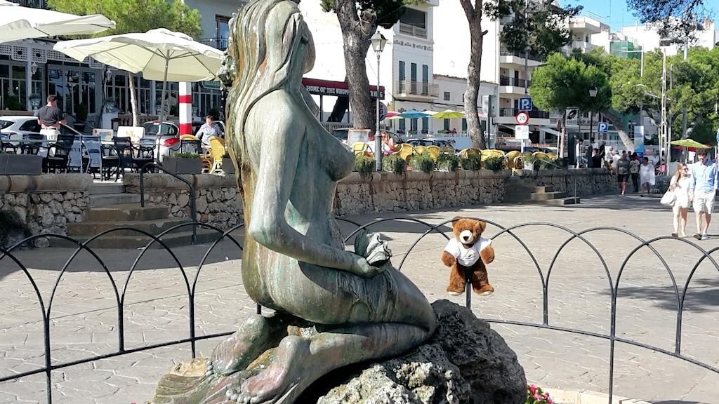 Der Urlaubär hängt in Porto Christo ab