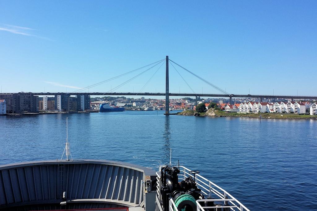 Mit der Fähre von Tau nach Stavanger