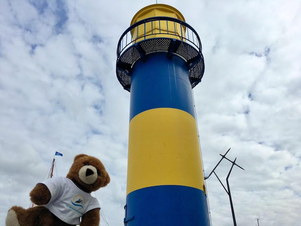 Der kleine Leuchtturm im Hafen von Eckernförde