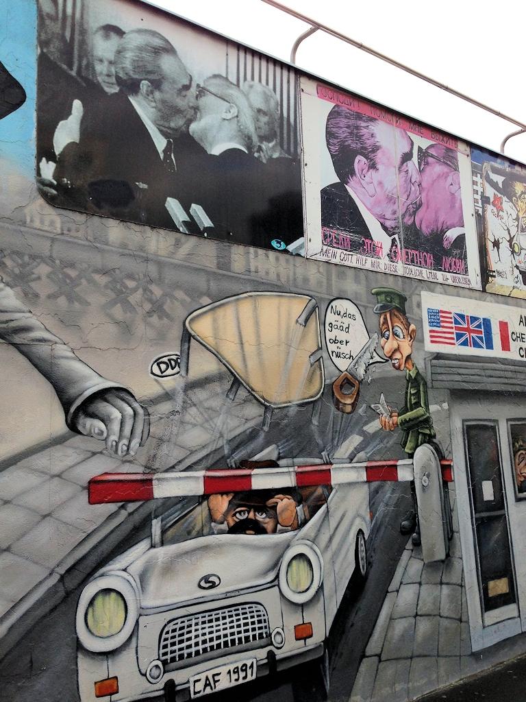 """""""East Side Gallery"""" - Open-Air-Galerie auf einem noch erhaltenen Teilstück der Berliner Mauer"""