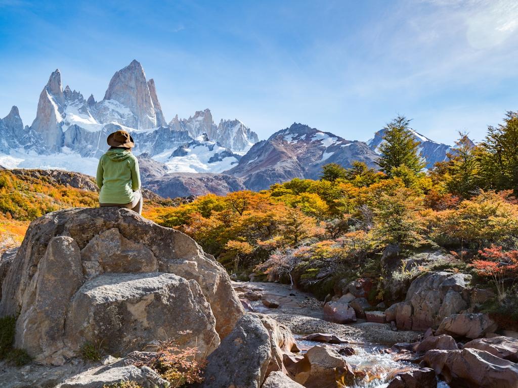 Der Urlaubär in Südamerika: Wandern in Patagonien