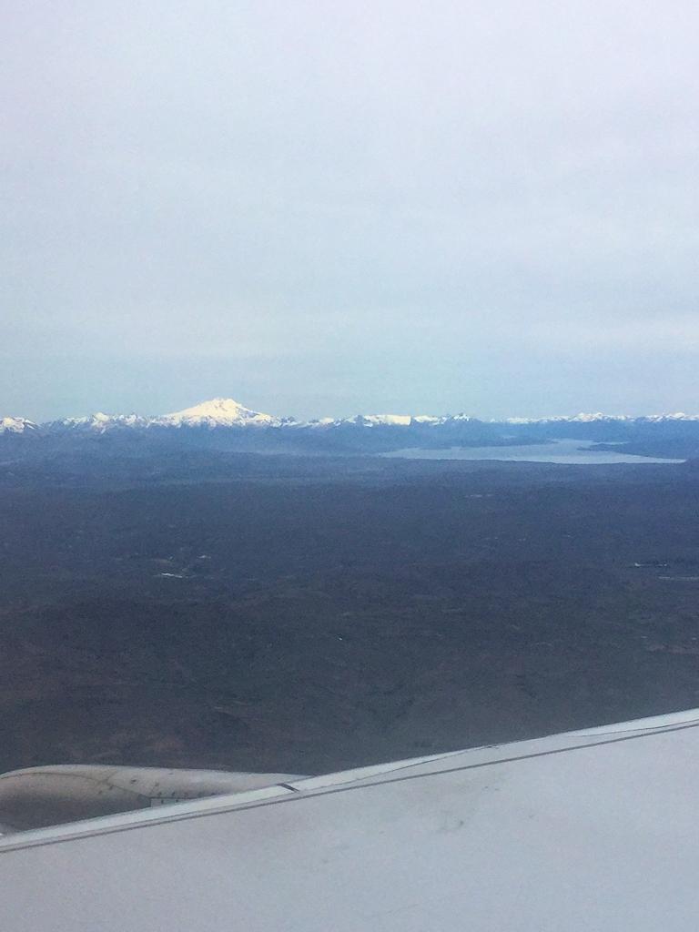 Blick auf die Anden aus dem Flugzeug