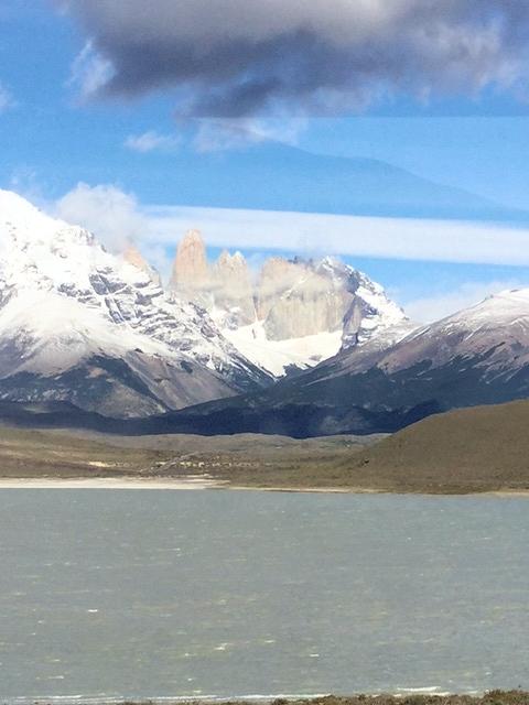 Blick auf den Fitz Roy und den Torre-Gletscher