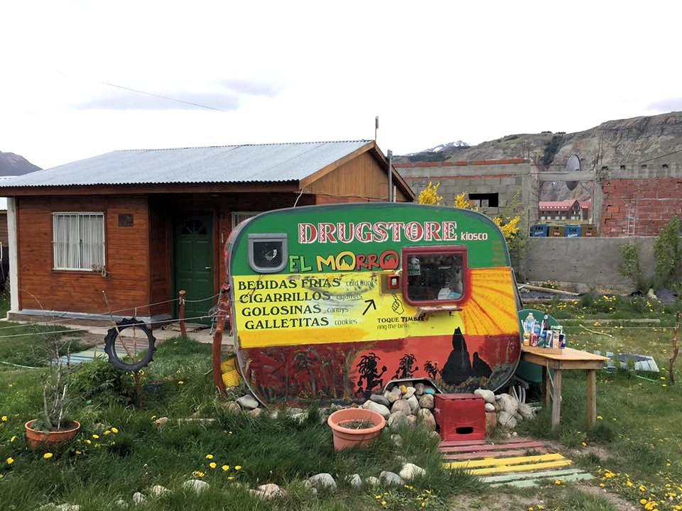Kiosk an der Grenze von Chile nach Argentinien
