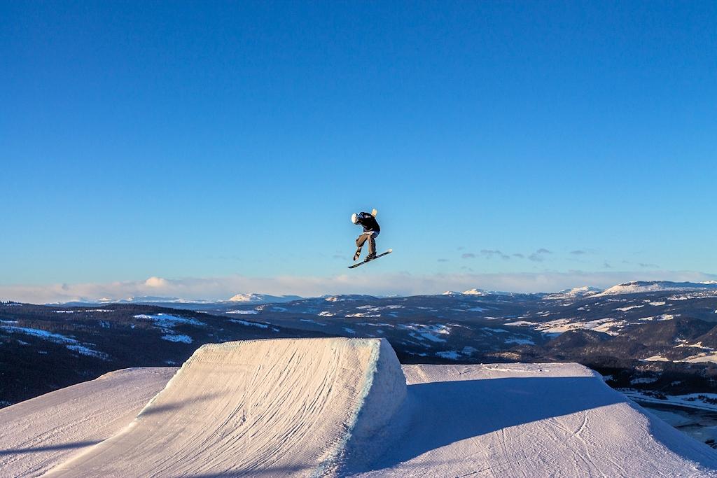 Snowboarder in Norwegen
