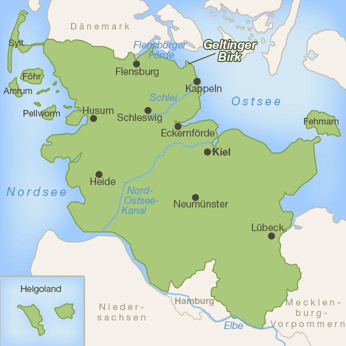 Karte Schleswig-Holstein - Geltinger Birk