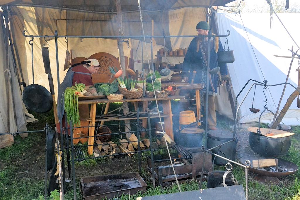 Wikingerküche auf dem Frühjahrsmarkt