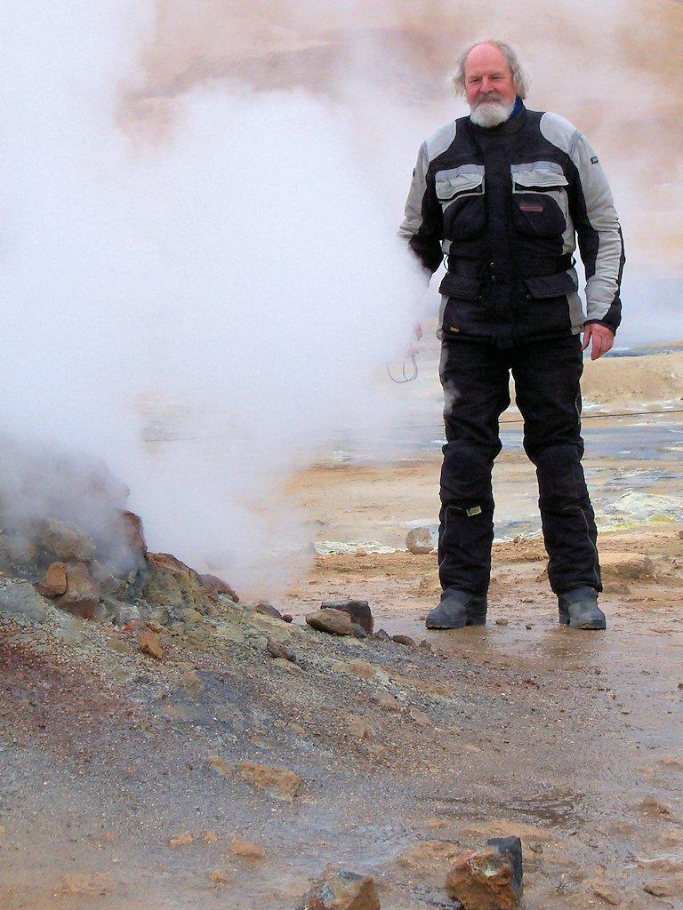 Heiße Quellen auf dem Námafjall