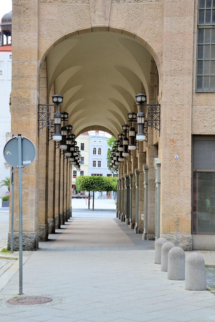 Die Arkaden des Jugendstilkaufhaus in Görlitz - Drehort vieler nationaler und internationaler Filmproduktionen