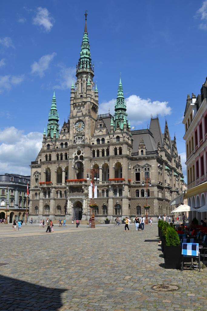 Das Rathaus von Liberec