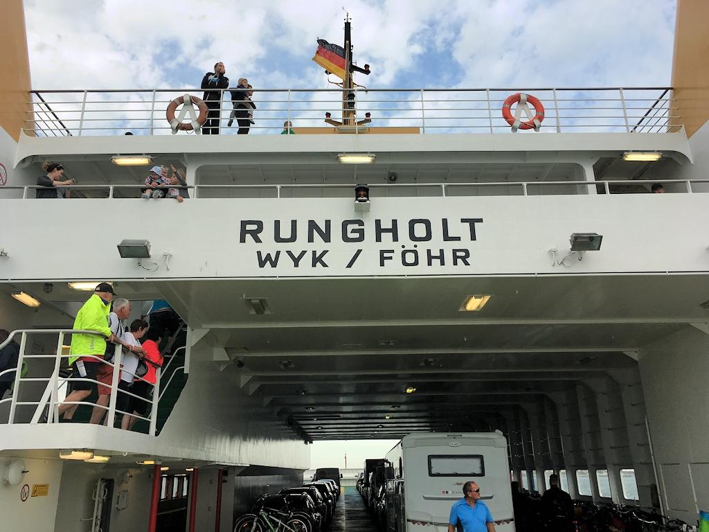 """Auf der Fähre """"Rungholt"""""""