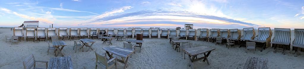 Strandkörbchen mit Meerblick