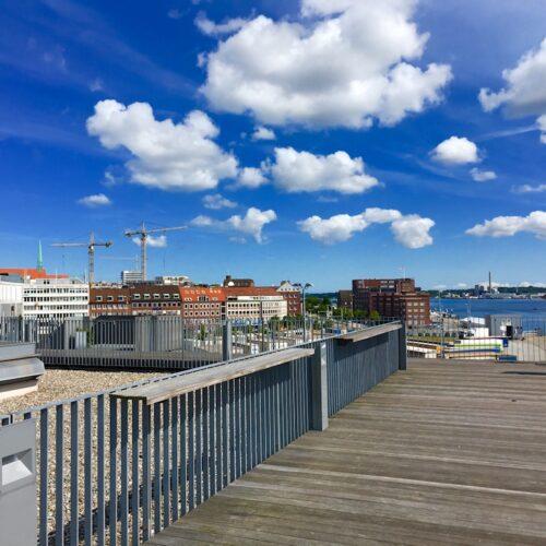 """Blick auf Kiel vom """"Schwedenkai"""" aus"""