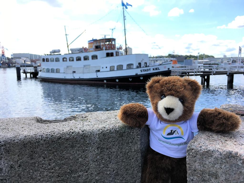 Der Urlaubär im Kieler Hafen