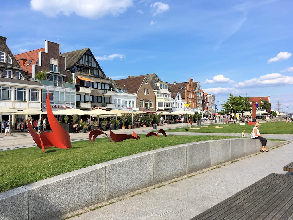 Häuserfassaden in Travemünde