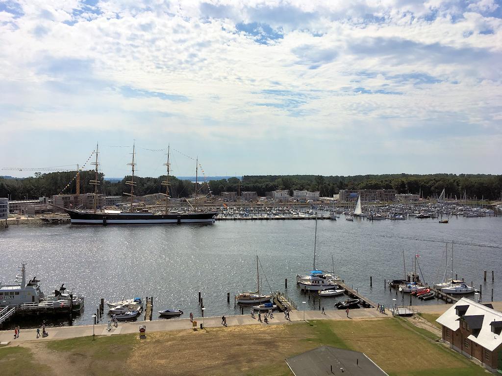 Blick auf das Museumsschiff Passat