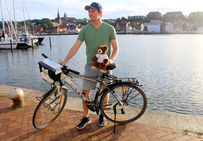 Fahrradtour Expedition1000GER im Flensburger Hafen