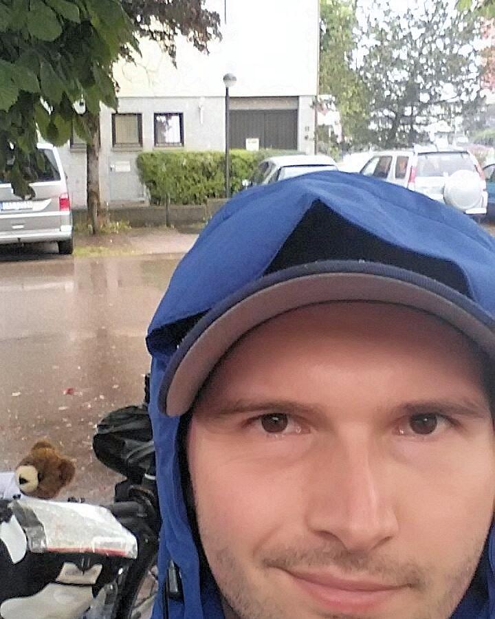 Unwetter auf der Fahrradtour Expedition1000GER