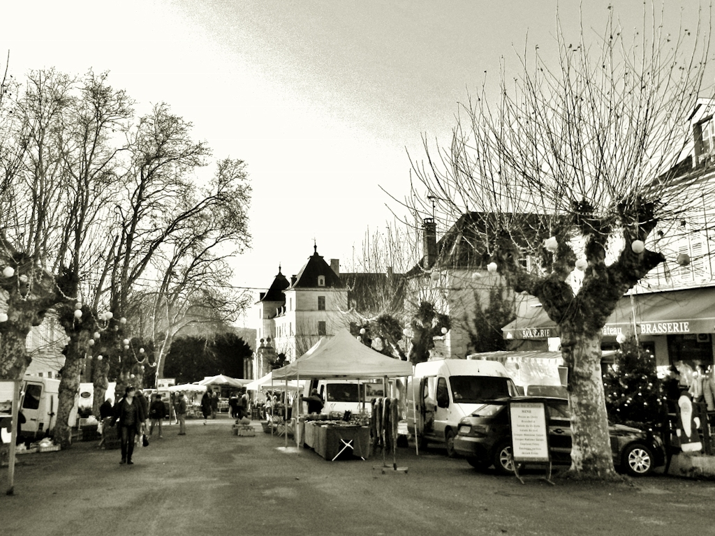 Markttag in Ancy-le-Franc