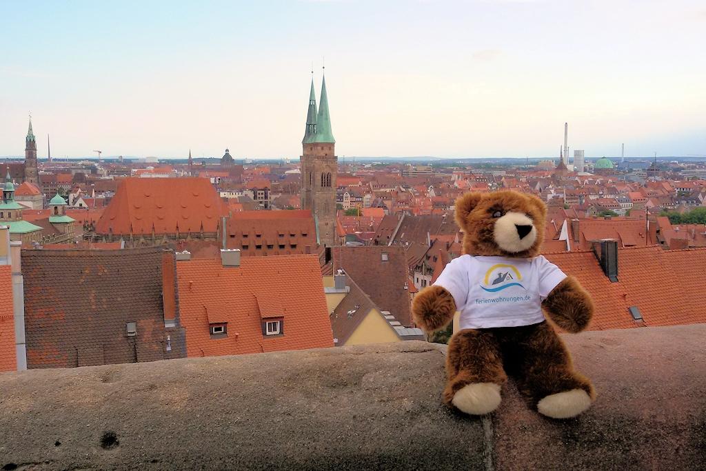 Blick von der Kaiserburg auf Nürnberg