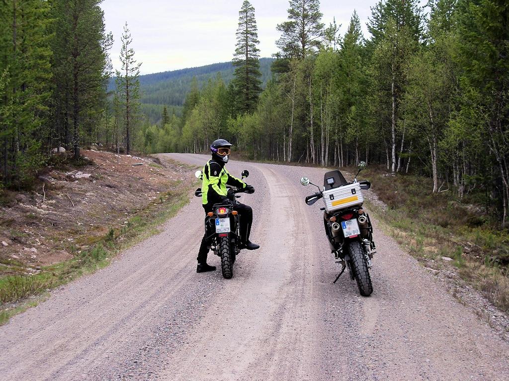 Auf Schotterpisten in Mittelschweden