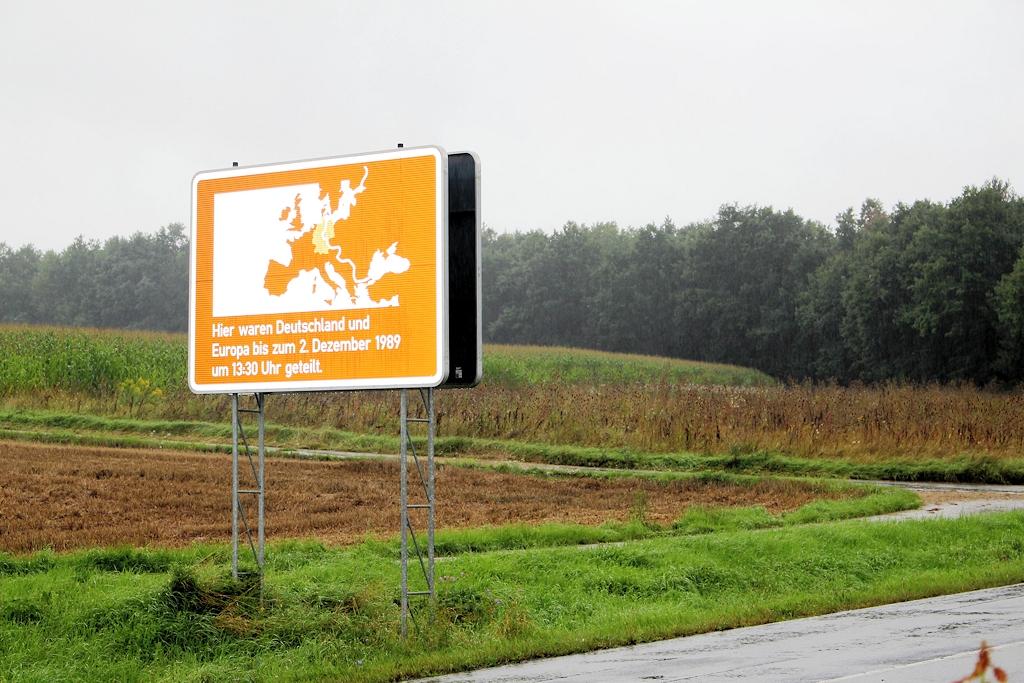 """""""Grenzübertritt"""" nach Thüringen - Der ehemalige """"eiserne Vorhang"""" bei Weltuntergang"""