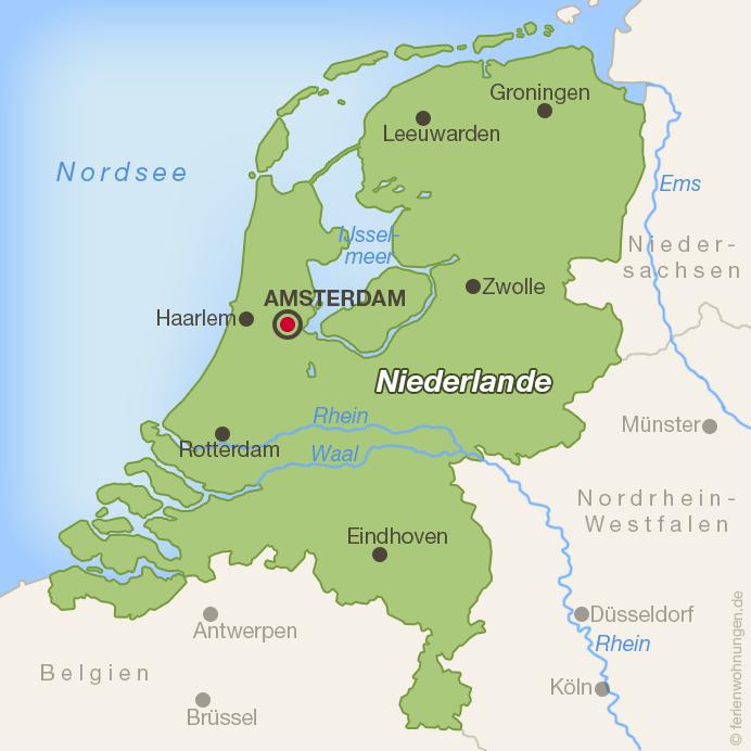 Lage von Haarlem in den Niederlanden
