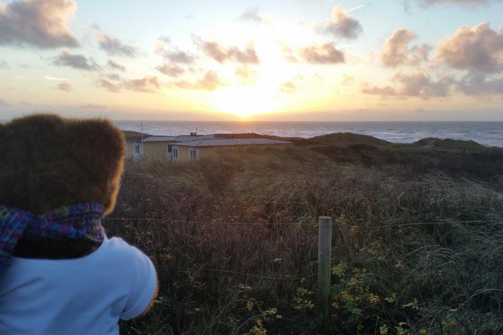 Sonnenuntergang in Henne Strand