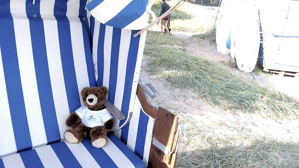 Strandkorb am Strand von Holnis mieten