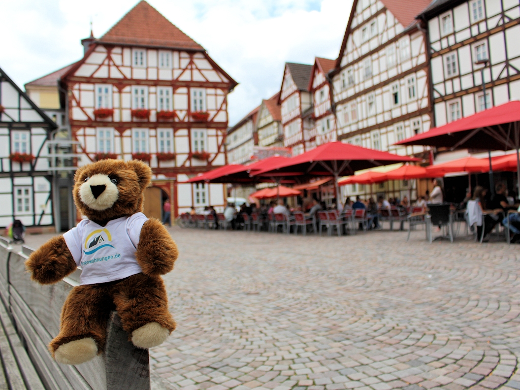 Auf dem Marktplatz in Eschwege