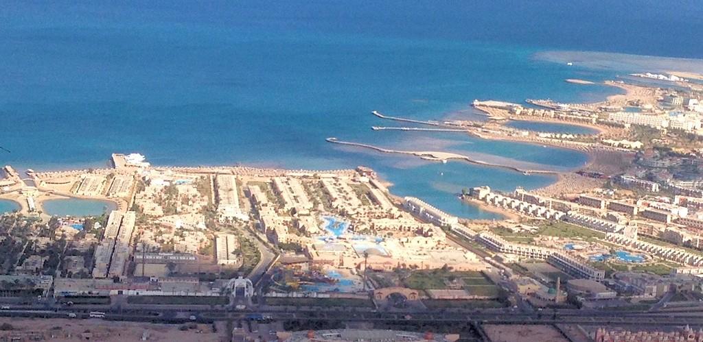 Urlaubär in Ägypten - Das Hotel aus der Luft gesehen