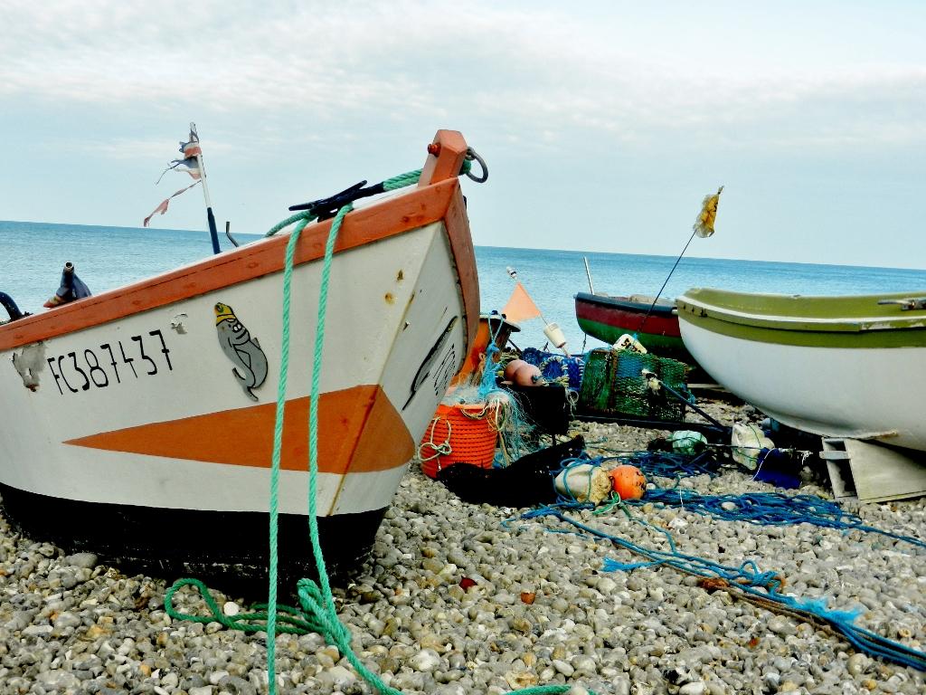 Fischerboote in Yport