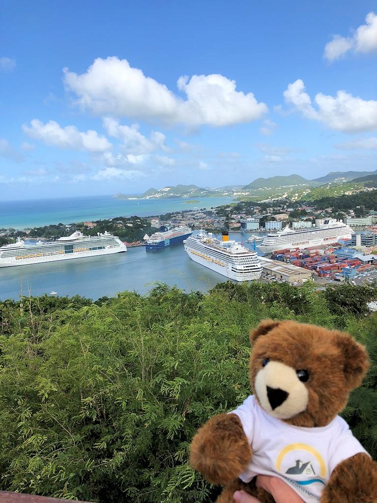 Der Urlaubär auf der Karibikinsel St. Lucia