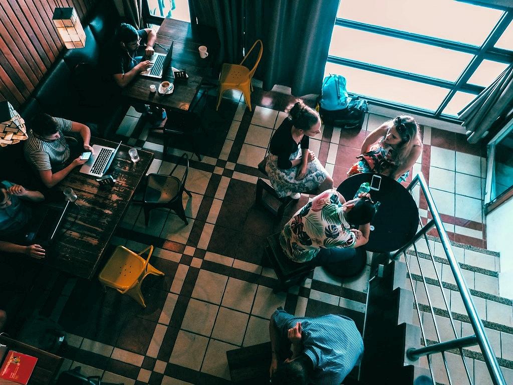 Hotelatmosphäre in Manila
