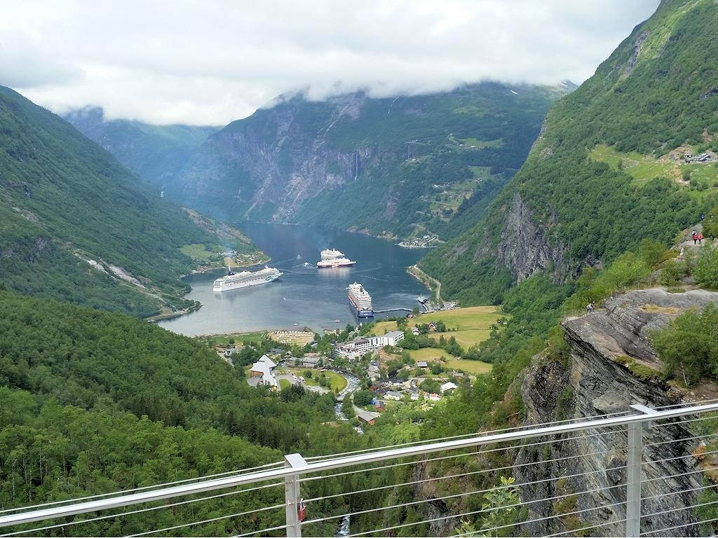 Der berühmte Blick auf den Geirangerfjord