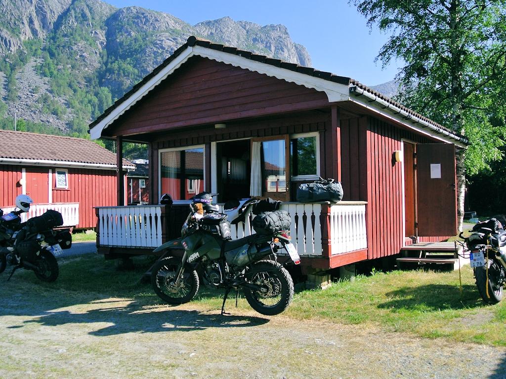 Hütte bei Tau