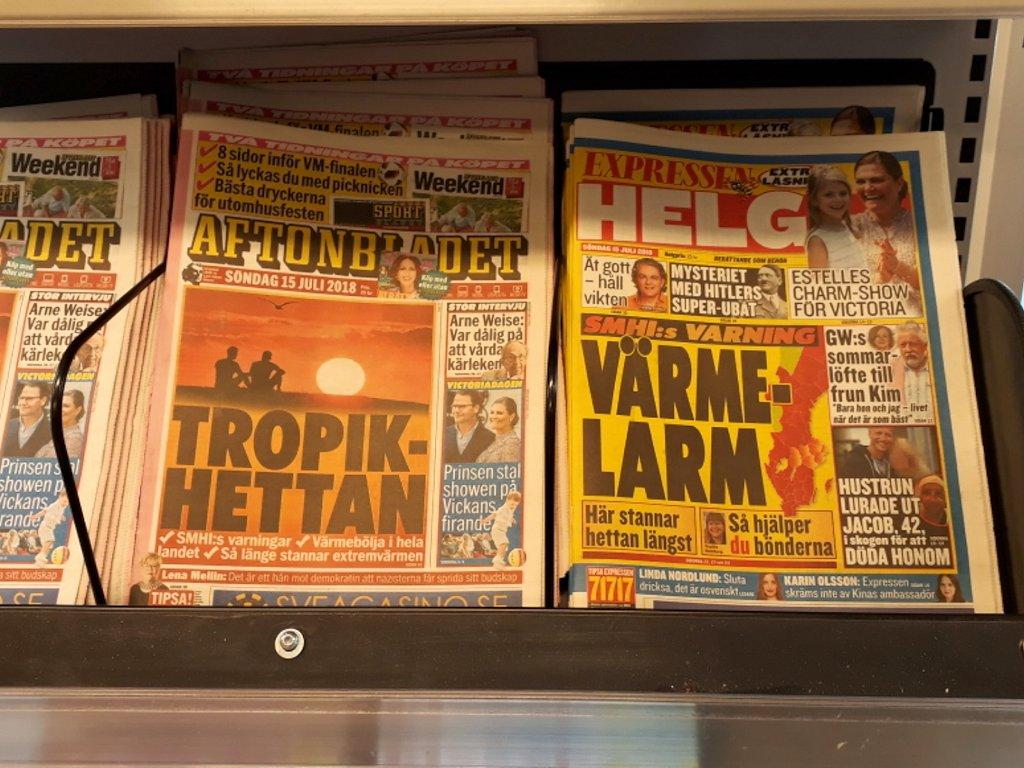 Die Hitzewelle in den schwedischen Zeitungen