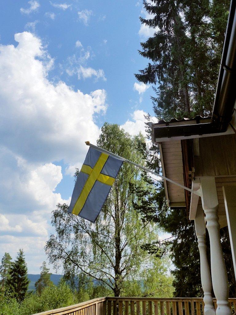 Auf der Terrasse des Ferienhauses