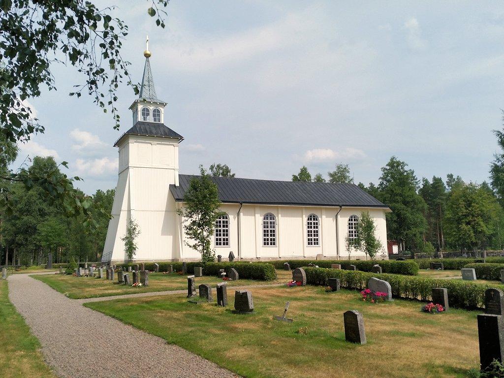 Kleine Holzkirche in den Wäldern von Värmland